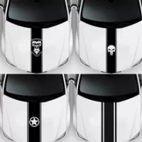 NEW WRC Stripe Car Sticker Reflective Decoration For Car Heard Decals Stickers Car-Styling Exterior Accessories
