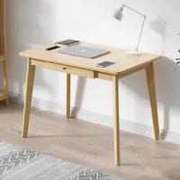 【HappyLife】北歐風實木腳電腦桌 單抽 80x50cm YV9943(書桌 收納書桌 展示桌 桌子 閱讀桌 辦公桌 工作桌)