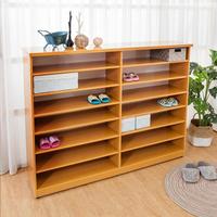 【BODEN】防潮防蛀 防水塑鋼5尺開放式鞋櫃(木紋)