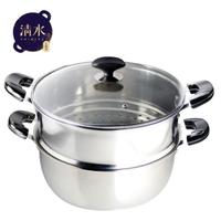 【shimizu 清水】一家之煮火鍋蒸籠組30CM(304不鏽鋼)