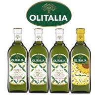 【Olitalia奧利塔】特級初榨橄欖油+葵花油料理組(1000mlx4瓶)