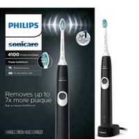 Philips【美國代購】飛利浦 電動牙刷 Sonicare ProtectiveClean 4100 HX6810/50 - 黑色