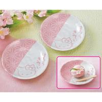 大賀屋 日本製 Hello Kitty 陶盤 碟子 器皿 陶瓷 和風 盤子 瓷盤 岐阜 土岐 三麗鷗 T00110103