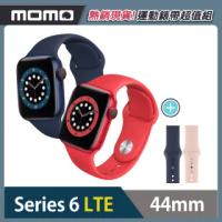 運動錶帶超值組【Apple 蘋果】Apple Watch Series6(S6) LTE 44mm 鋁金屬錶殼搭配運動錶帶