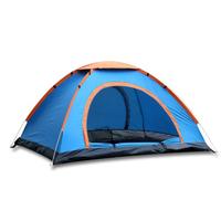 【PUSH!】戶外休閒用品1秒速開露營2-3人帳篷免搭拋帳(P120藍色)