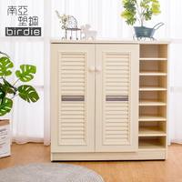 【南亞塑鋼】3.3尺二門右開放塑鋼百葉鞋櫃(白橡色)