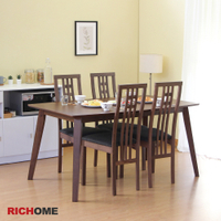 餐桌椅組 餐桌 餐椅 餐廳 聚餐   RICHOME TA319+CH1224 里莉絲餐桌椅組(一桌四椅)