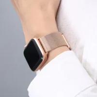 สำหรับ Apple Watch Se Series 6 Band 44มม.40มม.IWatch 5 4สายคล้องคอสำหรับ Applewatch 42MM 38มม.IWatch 3สร้อยข้อมือสแตนเลส