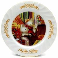 asdfkitty*KITTY收藏級古典陶瓷繪盤-音樂饗宴-2001年絕版商品-外盒泛黃-日本正版