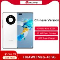 ต้นฉบับ HUAWEI Mate 40 5G สมาร์ทโฟน6.5นิ้ว OLED Kirin 9000E Octa Core 40W HUAWEI Super ชาร์จโทรศัพท์มือถือ