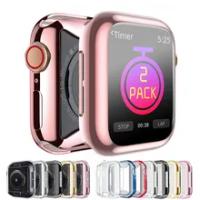 สำหรับ Apple Watch Case Series 6 5 4 3 Se Soft Clear TPU กันชน Iwatch เคส44มม.42Mm 40Mm 38Mm อุปกรณ์เสริม