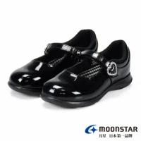 【MOONSTAR 月星】黑皮鞋系列-瑪莉珍學生皮鞋(黑色)