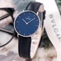 【Nordgreen】ND手錶 Native 本真 32mm Lille 月光銀殼×藍面 極夜黑真皮錶帶(NR32SILEBLNA)
