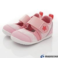 ★日本月星Moonstar機能童鞋HI系列寬楦頂級速乾鞋款1172淺粉(寶寶段)