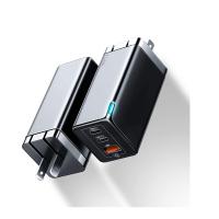 Baseus 65W 快速充電器 BS-S915 [GaN Tech] USB-C QC PD 3.0 黑/白 [2美國直購]