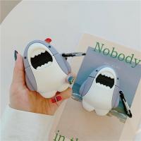 airpods Pro保護套可愛鯊魚適用蘋果耳機套Airpods1/2通用ins新款【麥兜精品】