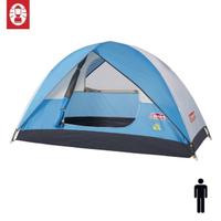 【Coleman】日光浴1人帳篷 天藍色 Sundome Tent Cyan(專利防積水系統 登山 雙窗 透氣 防雨)