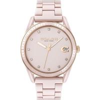 【COACH】浪漫主義風陶瓷時尚腕錶/粉(14503264)