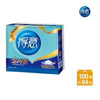 【金得意】極韌連續抽取式花紋衛生紙100抽*12包*7袋/箱