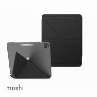 【moshi】iPad Pro 12.9-inch VersaCover多角度前後保護套-黑(適用 2021 5th Gen)