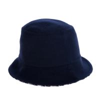【Dior 迪奧】新款雙面DIOR CHIC 柔軟羊毛雙層花色漁夫帽(藍色/56)
