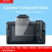 2PCS M50 Camera Glass 9H Hardness Tempered Glass Ultra Thin Screen Protector for Canon M5 M50 M50II M50 MARK II M6 M6II Camera