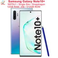 """Samsung Galaxy Note10 + Note10 Plus N975U N975U1 256/512GB ROM RAM 12GB 6.8 """"Snapdragon 855 NFC 4G LTE โทรศัพท์มือถือต้นฉบับ"""