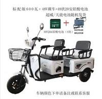 電動三輪車新款家用成人接送孩子代步車殘疾車載貨三輪電瓶車