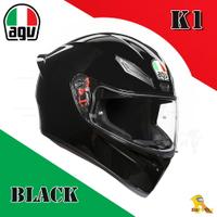 ~任我行騎士部品~AGV K1 亞洲版日規 單鏡片 全罩 安全帽 素亮黑 #BLACK