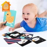 Bé Đen Trắng Thẻ Đồ Chơi Cho Trẻ Sơ Sinh Thị Giác Huấn Luyện Các Tông Mầm Non Động Vật Thực Phẩm Flashcard Bộ Đồ Chơi Giáo Dục Cho Trẻ Sơ Sinh