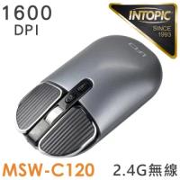 【INTOPIC】2.4GHz飛碟無線靜音充電滑鼠(MSW-C120)