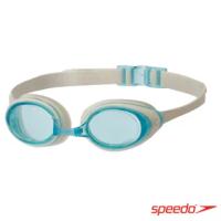 【SPEEDO】成人 進階型泳鏡 Cyclone II(白/藍)