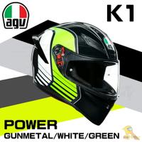 任我行騎士部品 AGV K1 全罩 安全帽 單鏡片 輕量化 通風 POWER 鐵灰白綠