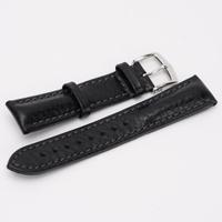HIRSCH 海奕施 20mm 黑色小牛皮仿舊錶帶 百年靈Breitling 漢米爾頓Hamilton可適用