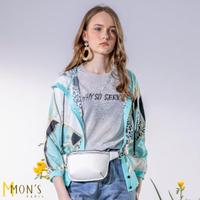 【MON'S】金屬風名品連帽外套