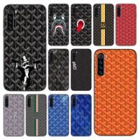 เคสโทรศัพท์สำหรับ Xiaomi Redmi หมายเหตุ8 8T 7 7A 9 9A 9S 8A 4 5 6 Pro สีดำ Funda นุ่ม Prime ซิลิโคนแบรนด์หรู Goyard-ออกแบบ