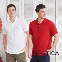 【NAUTICA】純棉簡約素色短袖POLO衫(5色任選)