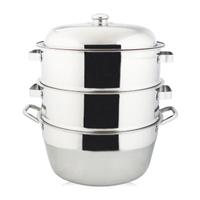 萬得威304不鏽鋼蒸籠組湯鍋35cm二入蒸盤