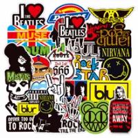10/30/50/100Pcs Rock Band เพลงสติกเกอร์โลโก้ Cool Decals ของเล่น DIY กีต้าร์โทรศัพท์แล็ปท็อปกระเป๋าเดินทางกันน้ำสติ...