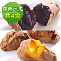 【瓜瓜園】冰烤番薯雙色嚐鮮組(台農57號黃地瓜x2+台農73號紫心地瓜x2)