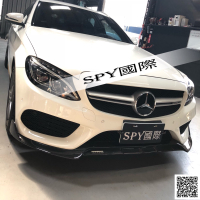 SPY國際 Benz W205 C300 AMG保桿 B款 單層碳纖維 前下巴 定風翼 現貨供應
