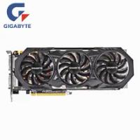 Used GIGABYTE Original GTX 970 4GB GDDR5 256 Bit GPU Graphics Cards GTX970