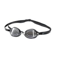 【SPEEDO】成人競技鏡面泳鏡-日製 游泳 海邊 蛙鏡 抗UV 防霧 訓練 黑銀(SD8108973515N)