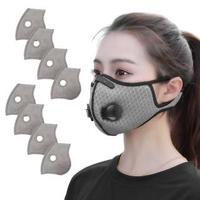 【活力揚邑】透氣網雙氣閥防塵霾機車運動口罩活性碳五層濾芯(8入)