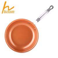 10英寸陶瓷塗層銅鍋,不粘煎鍋,用於電磁烹飪鍋/平底鍋 H2TW