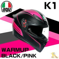 任我行騎士部品 AGV K1 全罩 安全帽 單鏡片 輕量化 通風 WARMUP 黑粉