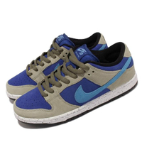 【NIKE 耐吉】滑板鞋 SB Dunk Low Pro 麂皮 男女鞋 厚鞋舌 ACG Caldera 情侶款 藍 灰(BQ6817-301)