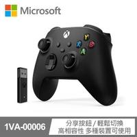 【Microsoft 微軟】Xbox無線控制器+Windows 10專用無線轉接器套組 磨砂黑(1VA-00006)