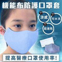 【IvyMaison】CHARME機能布防護口罩套-兒童(防口水氣味 3D立體剪裁肪層防護+)