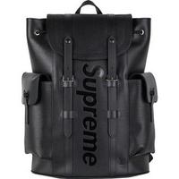 【紐約范特西】預購 LV x Supreme Christopher Backpack Epi PM Black後背包